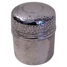 European Hand Hammered 800 Silver Lidded Vanity Box - Dresser Box | Unengraved Shield on Top