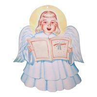 Vintage 1950s Choir Angel Wall Decoration - Christmas Angel of  Light Cardboard