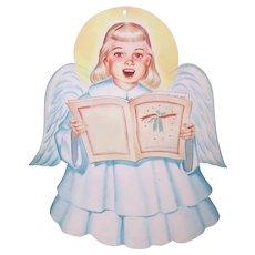 Vintage 1950s Choir Angel Wall Decoration - Christmas Angel of  Light Cardboard