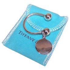 Tiffany & Co Sterling Silver Horseshoe Key Ring with Bag, Box & Papers - No Engraving