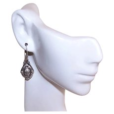 Designer Name Sarda Sterling Silver Dangle Drop Pierced Earrings