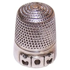 Leonore Doskow Sterling Silver Thimble for Mom - Dated 1980