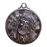 Hayward Sterling Silver Religious Medal Pendant - Jesus Crowned with Thorns