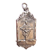Sterling Silver Holy Trinity Fathers Perpetual Mass Medal or Pendant - The Holy Spirit God the Father Jesus Christ on the Cross