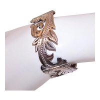 Gerardo Lopez Mexican Sterling Silver Link Bracelet - Eagle Mark 26 Made in Taxco Mexico