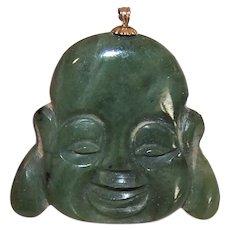 Green Nephrite Jade Buddha Pendant or Large Charm