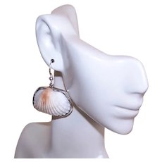 Charles Albert Sterling Silver Alchemia Ark Shell Earrings