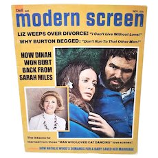 November 1973 Modern Screen Magazine - Burt Reynolds, Farrah Fawcett, Cary Grant & More