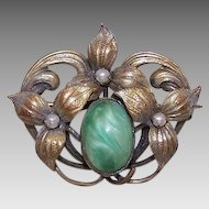ANTIQUE EDWARDIAN Gold Filled & Faux Gemstone Scatter Pin/Brooch!