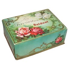 Vintage Made in Holland Candy Box | Shabby Chic Style | Pink Red White Roses