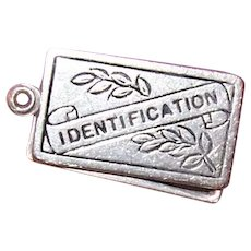 Sterling Silver Mechanical Charm - Sliding Identification Container