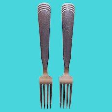 "Ripple aka Arvesolv #15 by Hans Hansen Denmark SINGLE Sterling Silver Dinner Fork 7-1/4"""