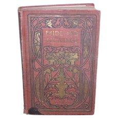 Jane Austen Novel Pride and Prejudice   Art Nouveau Era Hardcover Book