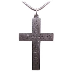 Victorian Sterling Cross Pendant