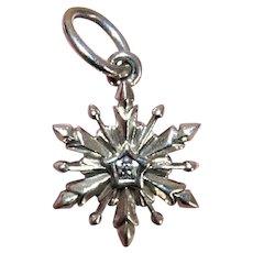 Pandora Sterling Silver Disney FROZEN Snowflake Dangle Charm - #791564 - 2.4 Grams