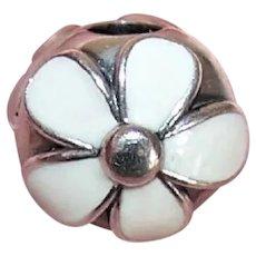 Pandora Sterling Silver Dazzling Daisies Enamel Clamp/Clamper Charm 791259EN12 - 3.5 Grams