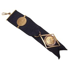 Joan of Arc 18K Gold Filled Watch Fob Pendant