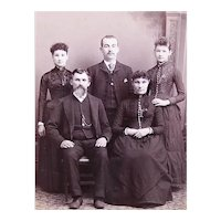 Antique Victorian Cabinet Photo - Meet the Family | Black River Falls Wisc Photographer
