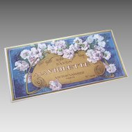 C.1900 FRENCH Paper Label - Savon a la Violette (Soap Label)!