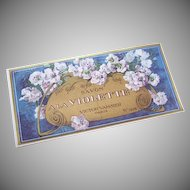 C.1900 FRENCH Paper Label - Savon a la Violette (Soap Label)!