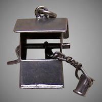 Sterling Silver Mechanical Charm - Wishing Well with Bucket
