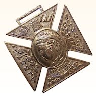 QUEEN VICTORIA Jubilee Medal, Pendant - Brass, 1897, Sixty Years, Monarchy