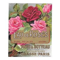 Five (5) Made in France French Perfume Labels | Eau de Roses - Pink Red Blooms