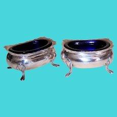 Fisher Sterling Silver Salt Cellar with Cobalt Blue Liner - Design 498 | 6 Available