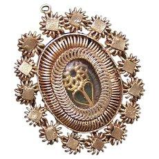 Antique French Silver Gilt Reliquary