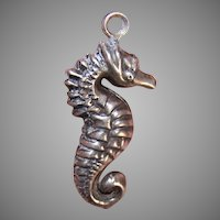Vintage Sterling Silver Charm - Seahorse