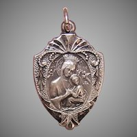 Religious Sterling Silver Charm - Our Lady of Perpetual Help | Sacred Heart of Jesus