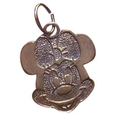 Vintage STERLING SILVER Vermeil (Gold Wash) Charm - Walt Disney's Minnie Mouse!