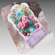 "Fold-Down VINTAGE Greeting Card - C.1900 Valentine's Day Card ""To My Love""!"
