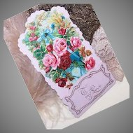"""Fold-Down VINTAGE Greeting Card - C.1900 Valentine's Day Card """"To My Love""""!"""