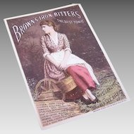 VICTORIAN Trade Card - Lily Langtry for Brown's Iron Bitters!