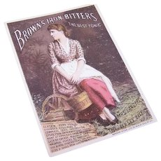 Victorian Trade Card - Lily Langtry for Brown's Iron Bitters