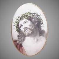 Antique Religious Image Icon - Christ Crucified | Ecce Homo |  Behold the Man