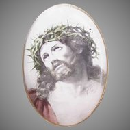 C.1900 Religious Paper Icon - Christ Crucified/Ecce Homo!