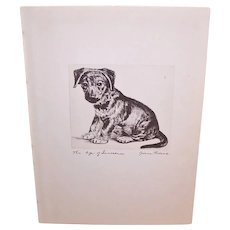 Diana Thorne Book Illustration - The Age of Innocence | Etching of a Puppy