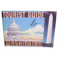 Vintage Tourist Guide to Washington, D.C. - Color Souvenir Booklet C.1950 or so