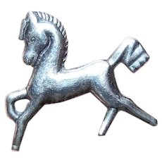 Made in Mexico Mexican Sterling Silver Pin Brooch - Horse