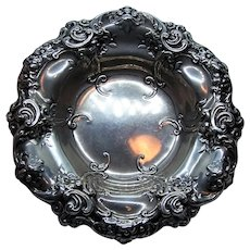 Gorham Melrose Sterling Silver Candy Bowl or Soap Dish - Floral Repousse Design | No Monogram - Design 816