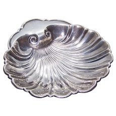 Gorham Sterling Silver Soap Dish Candy Dish Shallow Bowl - Clam Shell Design 445 | No Monogram