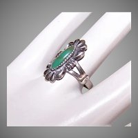 Bell Trading Post Sterling Silver Ring | Turquoise Ring | Vintage Native American Jewelry
