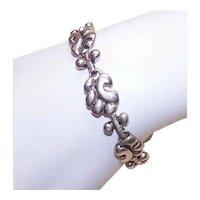Sterling Silver Link Bracelet Retro Modern Mid Century Design