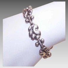 Vintage STERLING SILVER Bracelet - Retro Modern, Modernist, Mid Century, Link