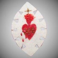 Vintage FRENCH Craft - Hand Made Agnus Dei - Religious Sacramental or Devotional - Sacred Heart!