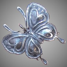 Sterling Silver Butterfly Pendant Pin Combination
