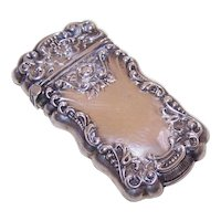 Sweet ANTIQUE VICTORIAN Sterling Silver Match Safe!