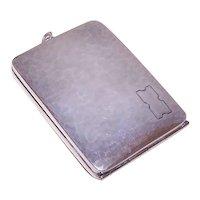 Webster Co Sterling Compact Pendant - Note Holder - Cash Stash